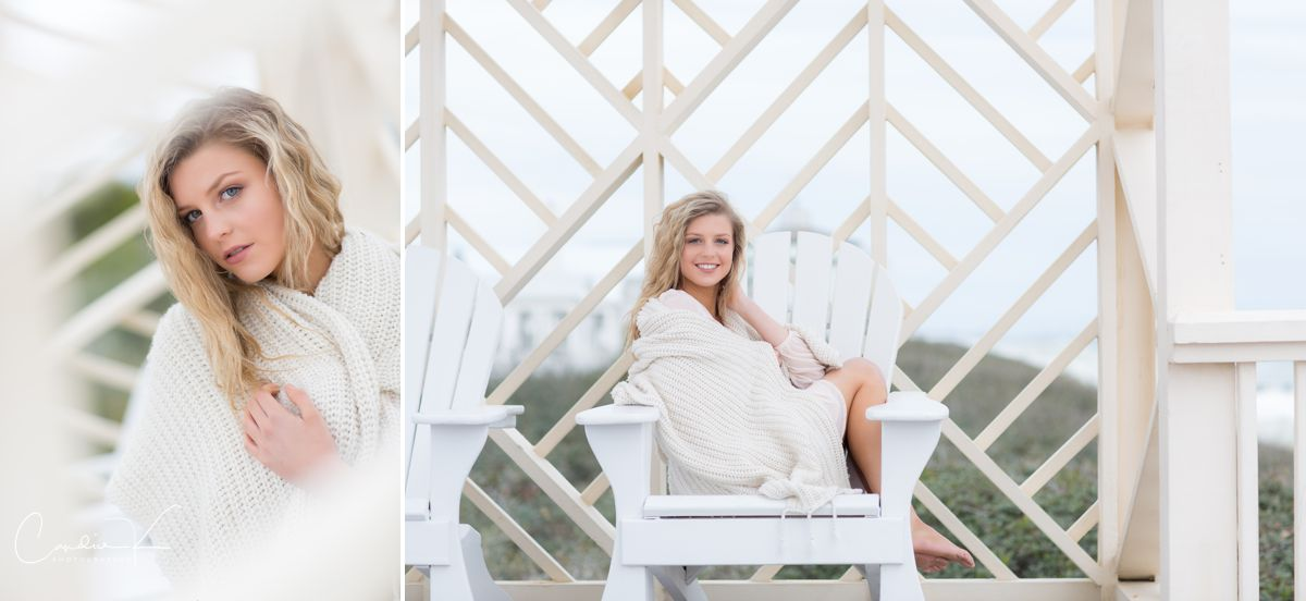 seaside Florida senior portrait