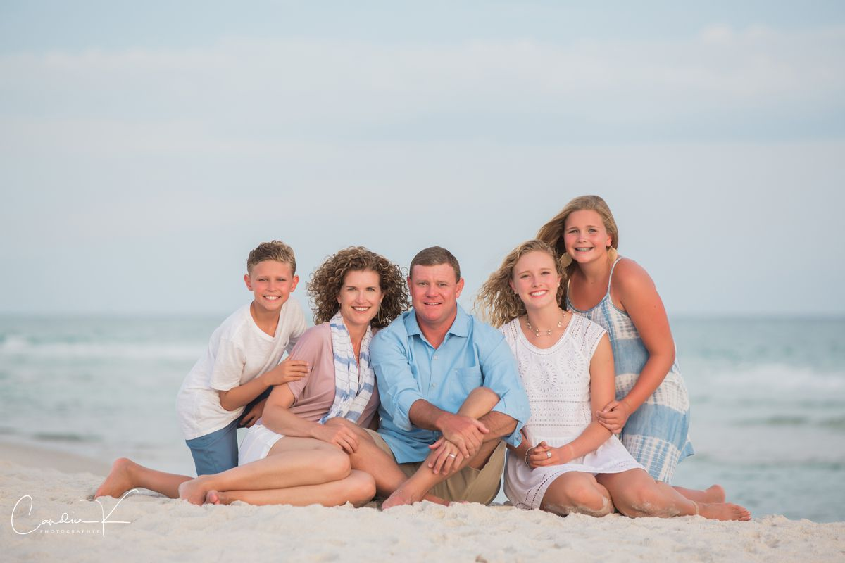 family portrait in rosemary beach