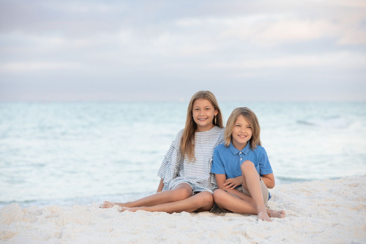 sibling beach portraits south Walton